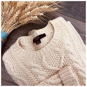 J. Crew Handknit Mens Fisherman Sweater L
